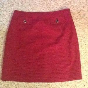 Ann Taylor Loft Pink Black Mini skirt
